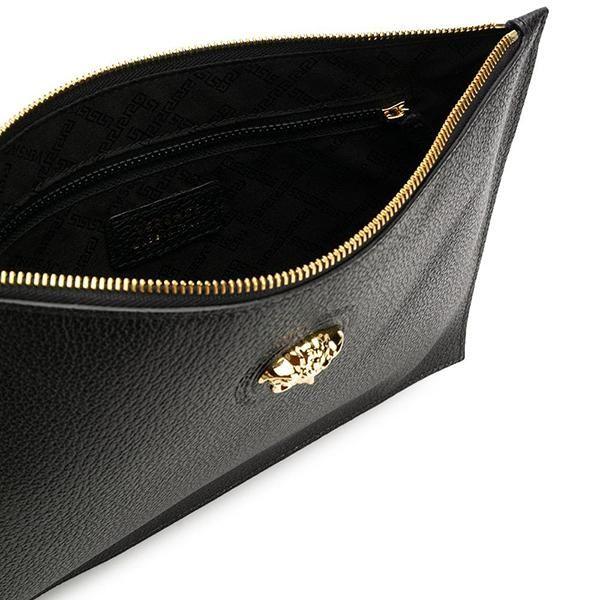 Mua Ví cầm tay Versace Medusa Gold Black Calfskin Leather Clutch da bê chính hãng