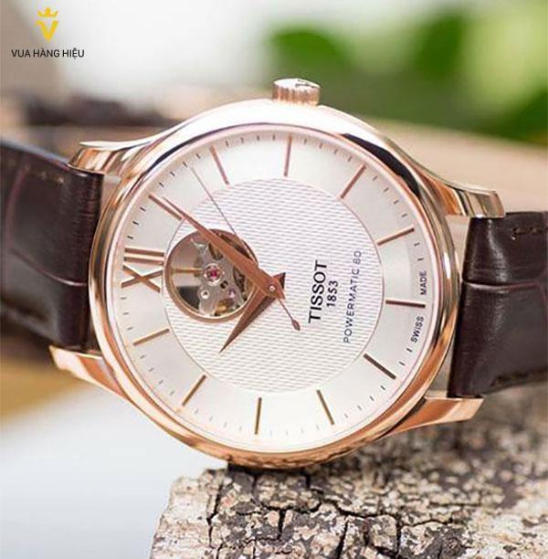Đồng hồ Tissot T063.907.36.038.00 dây da nâu