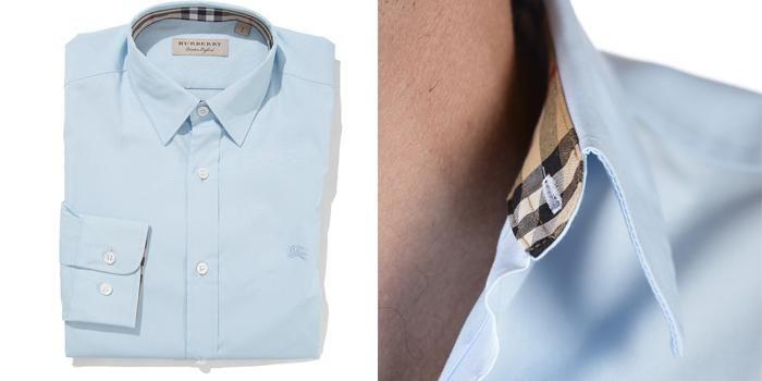Mua Áo Sơ Mi Burberry London England Pale Blue Long Sleeve Shirt Nam, màu xanh, Giá tốt