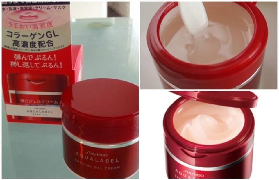 Kem duong Da Shiseido Aqualabel Do chinh hang nhat anh 1
