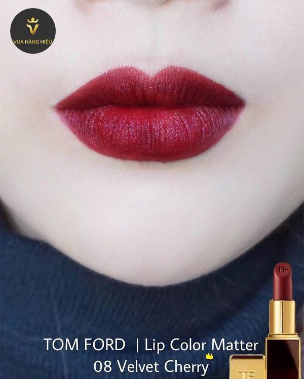 Chất son Son Tom Ford Lip Color Matte Lipstick 08 Velvet Cherry