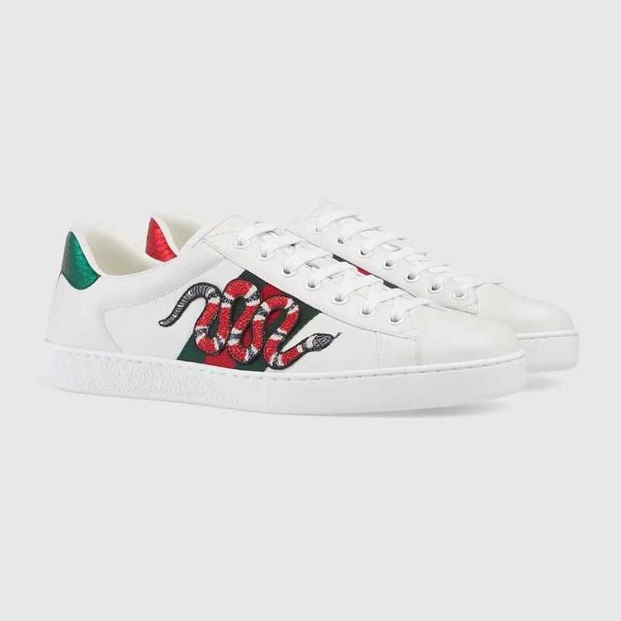 Giày Gucci họa tiết rắn đỏ