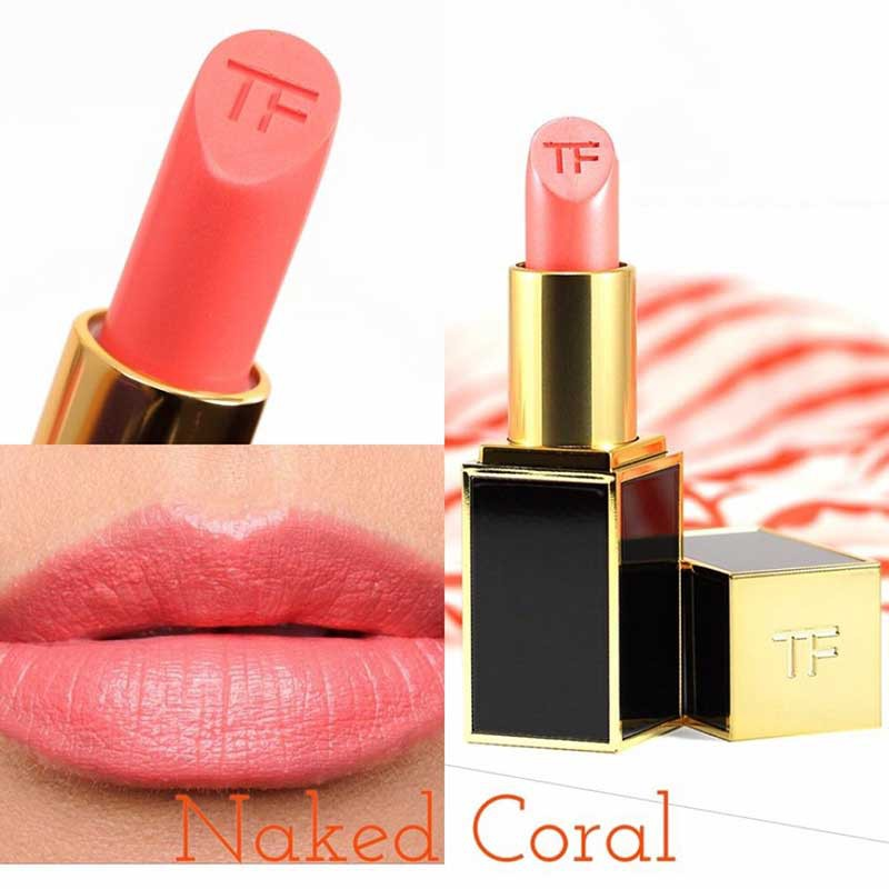 Son Tom Ford Lip Color 21 Naked Coral cam hong