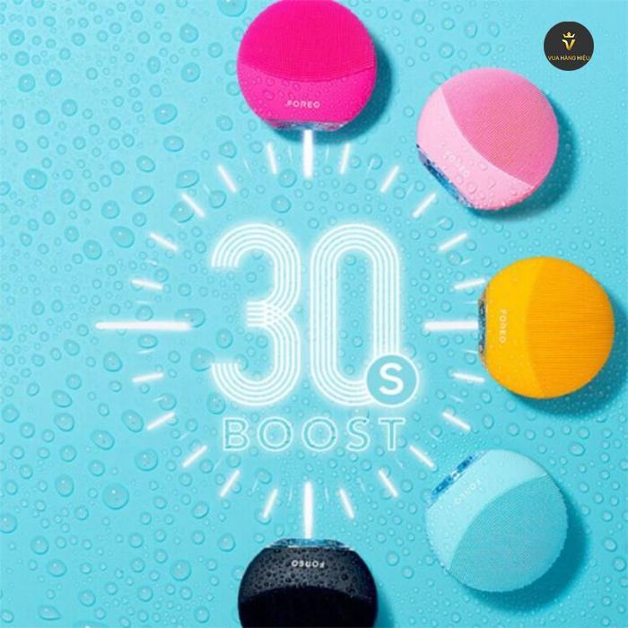 May rua mat foreo luna mini 3 - Glow Boost 30s