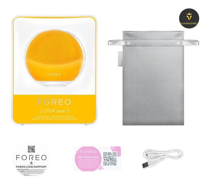 May rua mat foreo luna mini 3 mau vang yellow fullbox