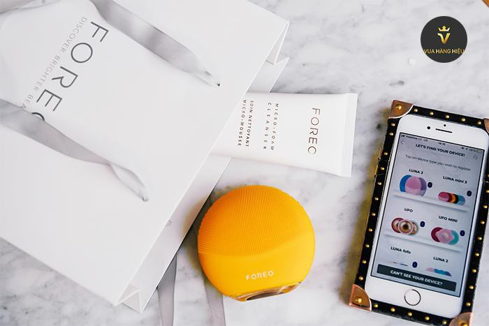 May rua mat foreo luna mini 3 mau vang yellow