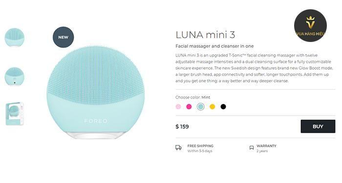 May rua mat Foreo Luna Mini 3 mau xanh bac ha Mint - gia