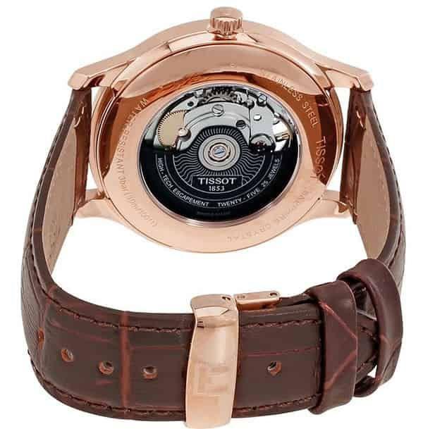 Đồng hồ Tissot T063 907 36 038 00 automatic dây da nâu cho nam