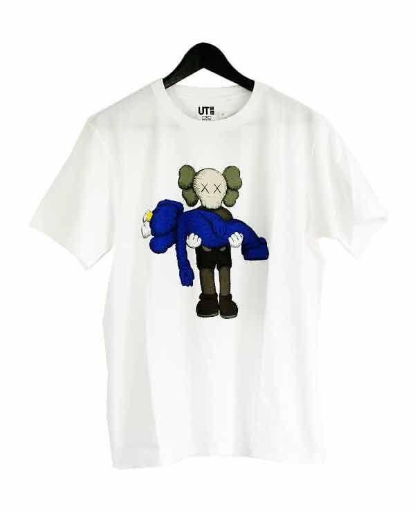 Áo Phông Kaws x Uniqlo UT Họa Tiết Xanh Size S cho mùa hè