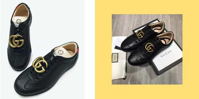 Mua Giày Gucci Calfskin Black Sneaker Màu Đen cho Nam, Chính hãng Ý, Giá tốt