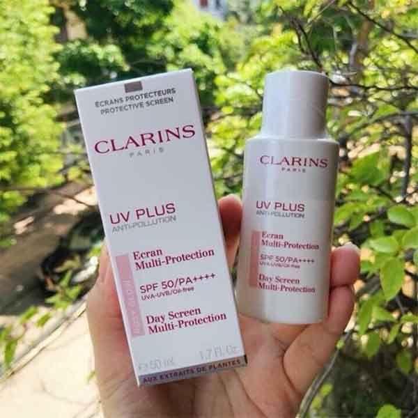 Kem Chống Nắng Clarins Rosy Glow UV Plus SPF 50 Màu Hồng 50ml