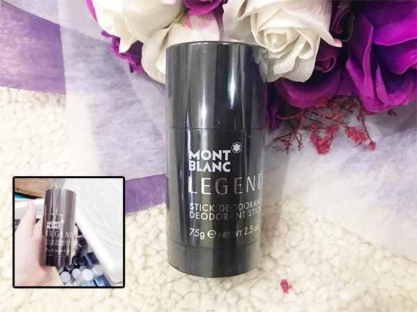Thiết kế chai lăn khử mùi Montblanc Legend nam tính chính hãng Đức