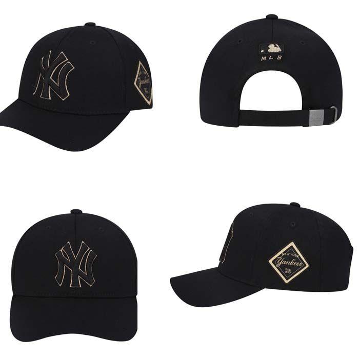 Mua Mũ MLB New York Yankees Diamond Adjustable Hat In Black chính hãng Hàn Quốc, Giá tốt