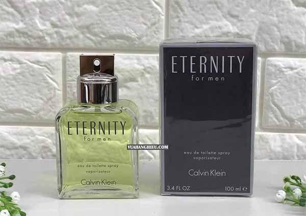 Thiết kế chai nước hoa CK Enternity For Men 100ml chính hãng Mỹ