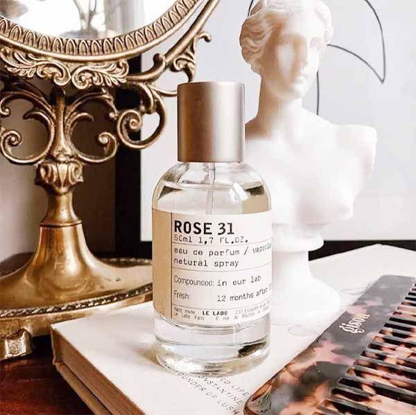 Thiết kế chai nước hoa Le Labo Rose 31 50ML