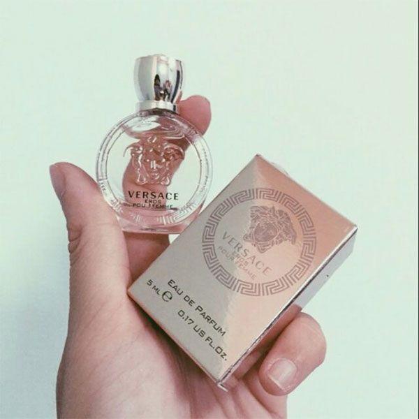 Thiết kế chai nước hoa Versace Eros Pour Femme 5ml