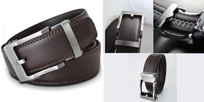 Mua Thắt Lưng Nam Viniciobelt Holeless Leather Ratchet Click Trim To Perfect Fit Nâu Size XL, chính hãng, Giá tốt