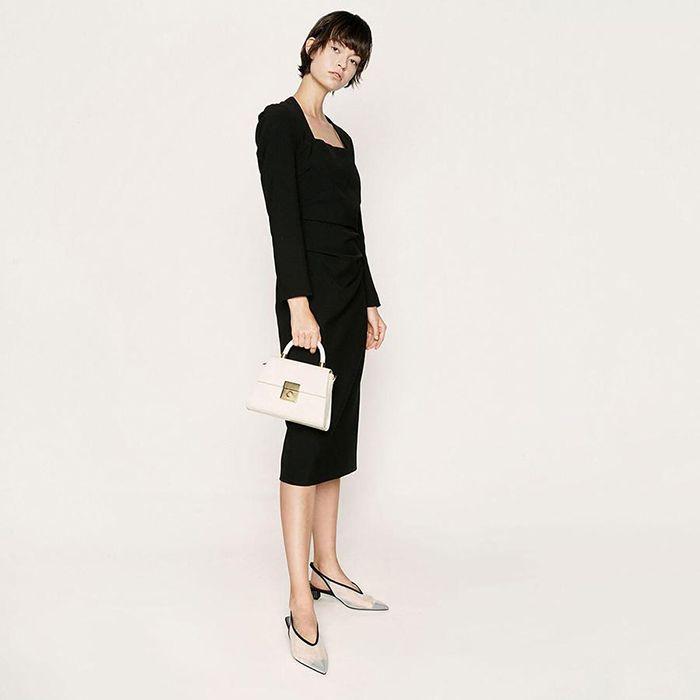 Thiết kế túi xách Croc-Effect Structured Sculptural Bag CK2-50781127 màu trắng 3