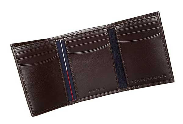 Ví Tommy Hilfiger Mens Cambridge Trifold Wallet Brown 5676/02 Màu Nâu