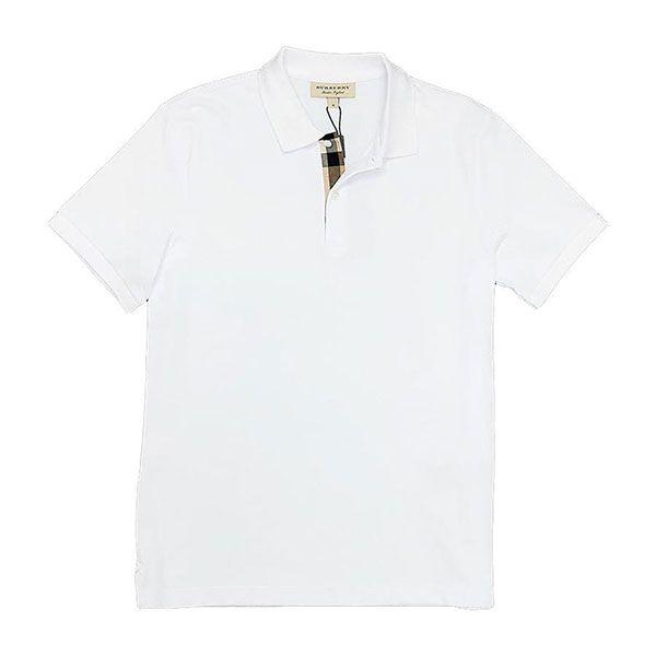 Áo Polo Burberry London England Cotton Short Sleeve Polo Shirt Màu Trắng size S