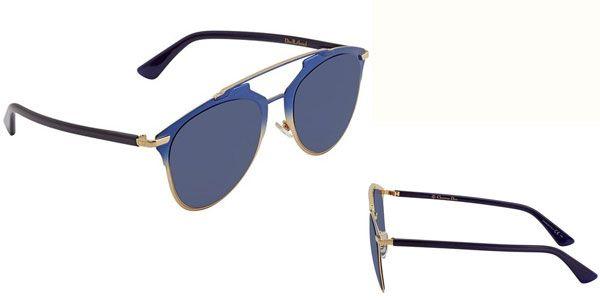 Kính Mát Dior Blue Aviator Ladies Sunglasses DIORREFLECTED TVW/KU 52 xanh Blue