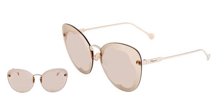 Kính Mát Salvatore Ferragamo Light Grey Butterfly Ladies Sunglasses chính hãng Ý