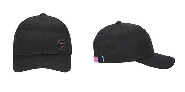 Mũ MLB Shiny Metal Adjustable Cap New York Yankees màu đen