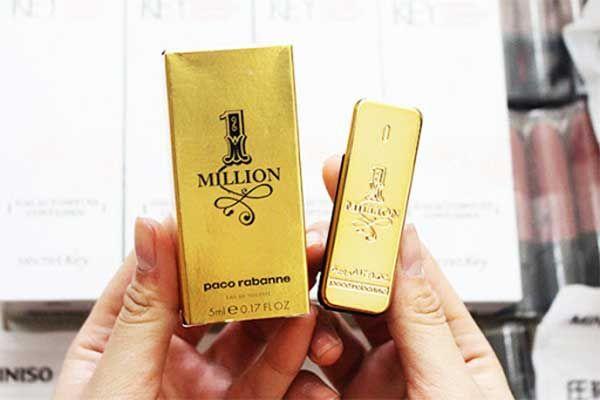 Thiết kế chai nước hoa Paco Rabanne One Milion 5ml cho nam