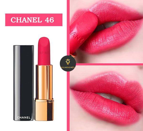 Chất son Chanel Rouge Allure Velvet 46 mềm mại, siêu lì
