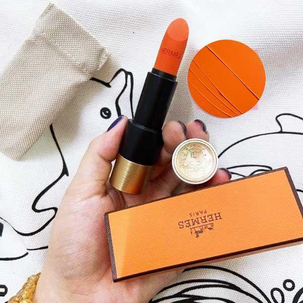 Màu son Rouge Hermès Satin Lipstick 33 - Orange Boîte nhẹ nhàng tươi trẻ