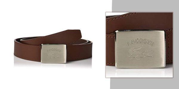Thắt Lưng Lacoste Men's Retro Big Croc Buckle Belt Belt RC3010-H54 màu nâu