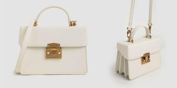 Đặc điểm Túi Charles & Keith Classic Push-Lock Top Handle Bag màu trắng