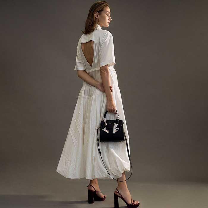 Đặc điểm túi Charles & Keith Scarf-Wrapped Top Handle Bag màu đen - ảnh 2