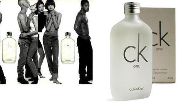 Thiết kế chai nước hoa Calvin Klein CK One đơn giản, cá tính