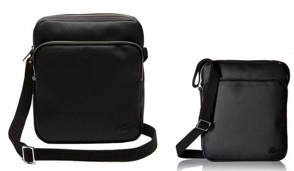 Túi Đeo Chéo Lacoste Men's Classic Petit Pique Double Bag Black màu đen