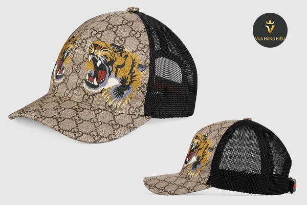 Đặc điểm mũ Gucci Tigers Print GG Supreme họa tiết con hổ Size M