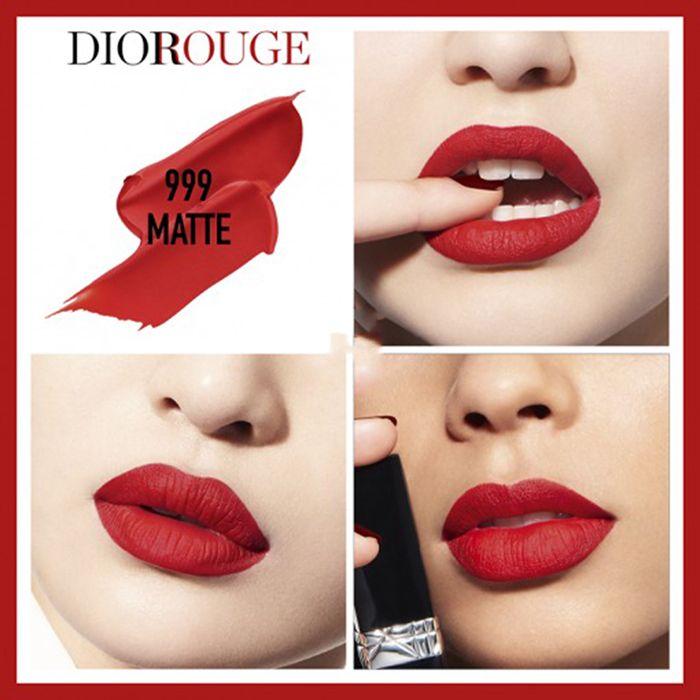 Màu Son Dior Rouge 999 Matte nóng bỏng, quyến rũ