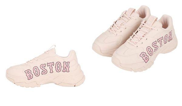 Đặc điểm Giày Sneaker MLB Big Ball Chunky P Boston Red Sox Màu Hồng Nhạt Size 245 - anh 1