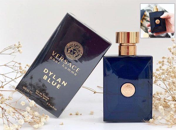 Thiết kế chai nước hoa Versace Pour Homme Dylan Blue 5ml sang trọng, tinh tế