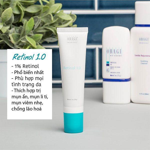 Ưu điểm nổi bật của kem dưỡng da, hỗ trợ làm giảm mụn Obagi 360 Retinol 1%