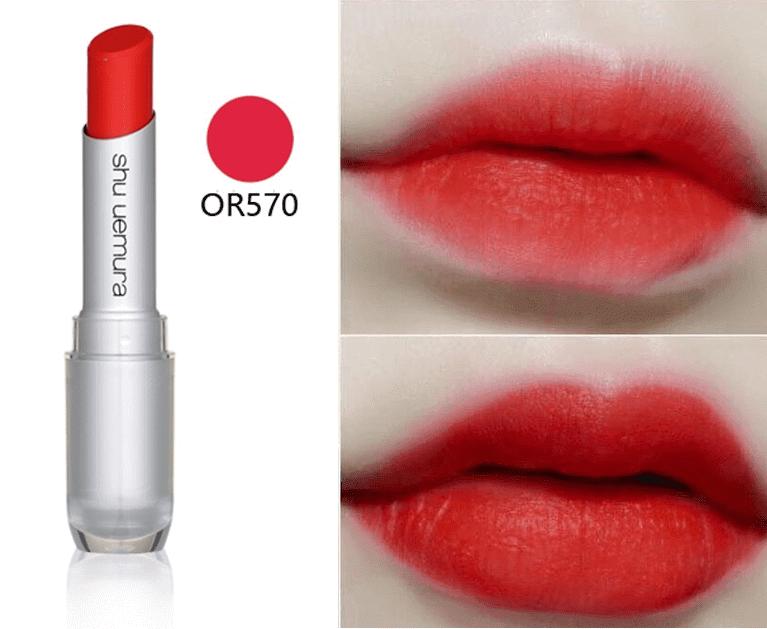 Son Shu 570 màu đỏ cam Nhật Bản
