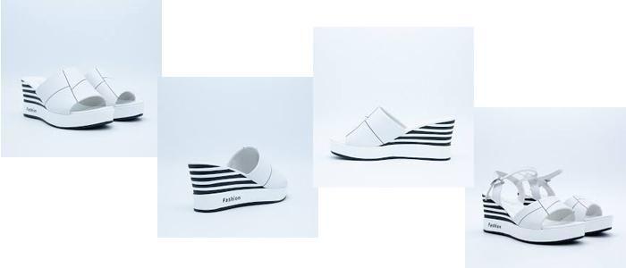 Sandal Da Nữ Aokang 19283112339 Size 39 màu trắng chính hãng