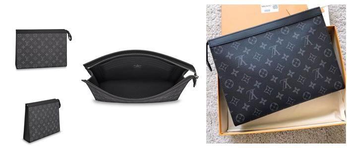 Mua Túi Clutch Louis Vuitton Voyaga MM Monogram Eclipse Canvas màu đen