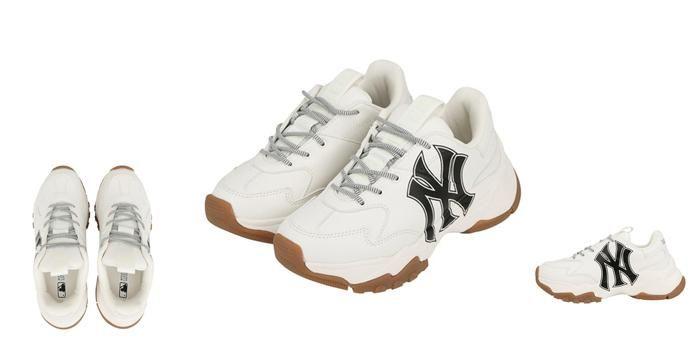 Mua Giày Sneaker MLB Big Ball Chunky A Màu Trắng Logo Đen Size 240, Giá tốt