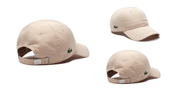 Mua Mũ Lacoste Men's Gabardine Cap Beige Nam, màu be, cotton 100%, Giá tốt