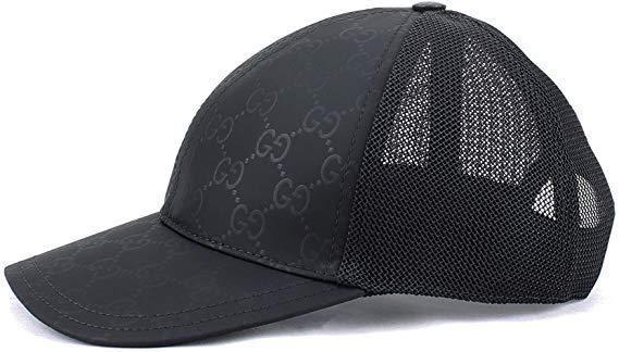 Mua Mũ Gucci Original GG Canvas Black, chất cotton màu đen