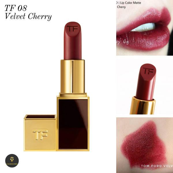 Thiết kế Son Tom Ford Lip Color Matte Lipstick – 08 Velvet Cherry