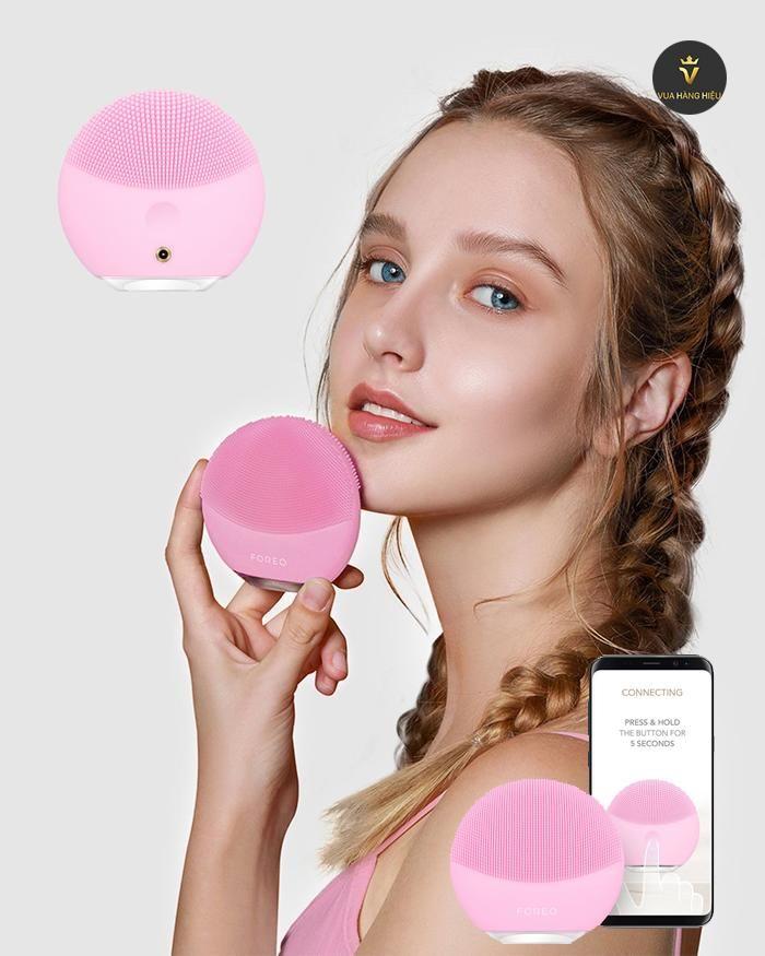May rua mat Foreo Luna Mini 3 hong nhat Pearl Pink - cong dung