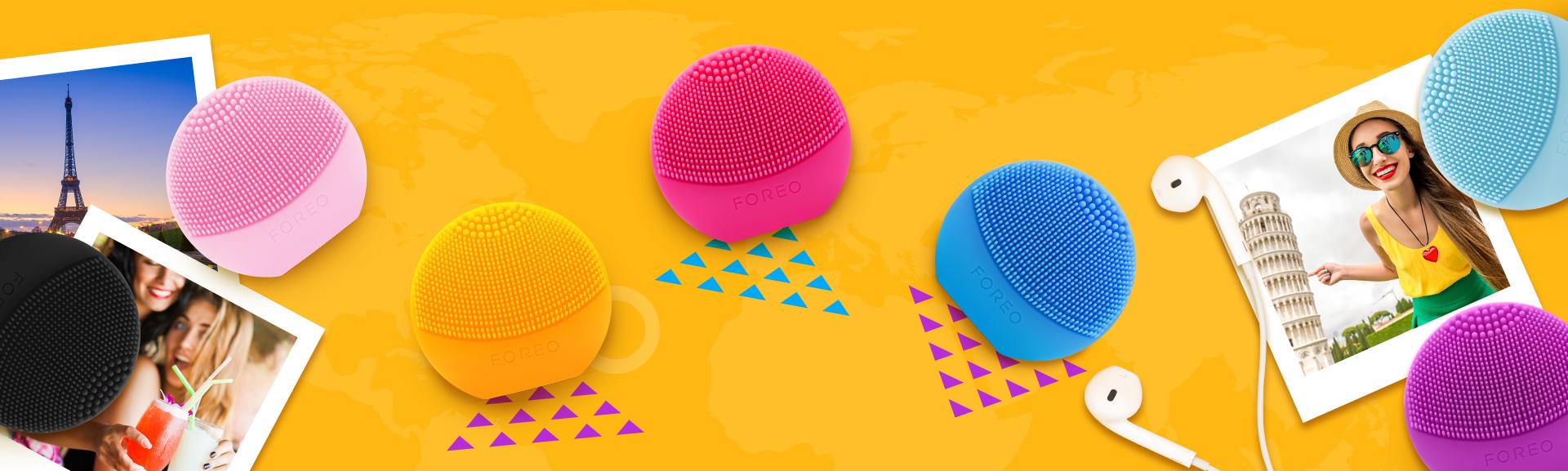 Máy rửa mặt Foreo Luna Play màu vàng