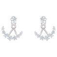 Khuyên Tai Swarovski Moonsun Pierced Earring Jackets White Rhodium Plated